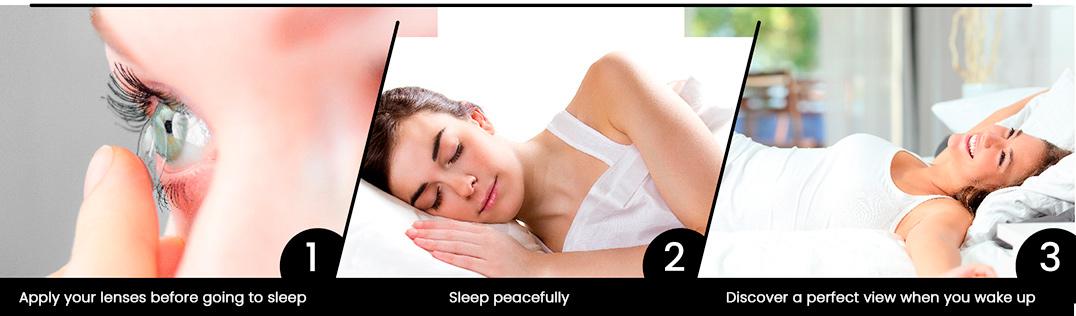 Applicazione lenti notturne ortocheratologia
